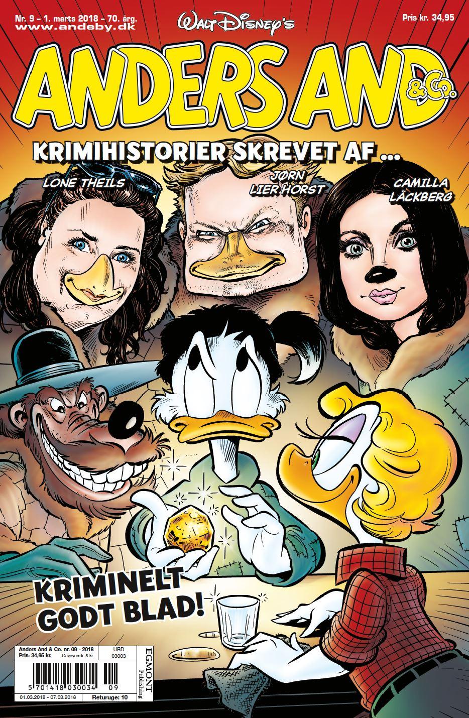 Tre af Nordens bedste krimiforfattere skriver historier til Anders And-bladet