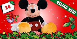 24. december • VIND: Kæmpe Mickey-plysbamse