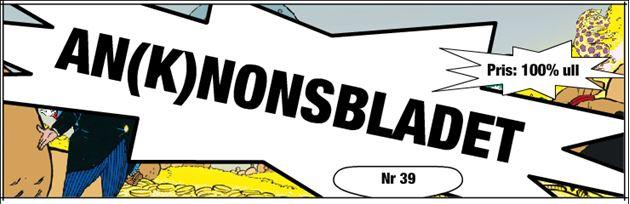 """AN(K)NONSBLADET. """"NR 39"""""""