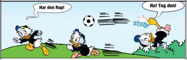 Uheld med fodbold